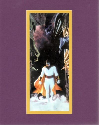 SPACE GHOST - TROUBLE PROFESSIONALLY MATTED PRINT Alex Ross artwork HB