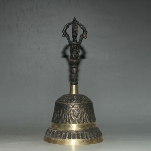 Chinese Tibetan Buddhism Vajra Copper Bell Exorcism Talisman