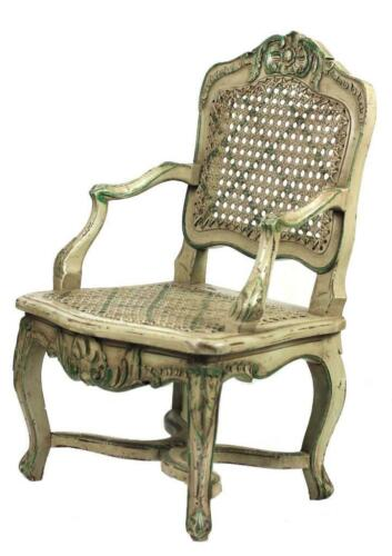 """Miniature Antique French 20"""" Doll arm chair 19th c. Regence style (1715-1723)"""