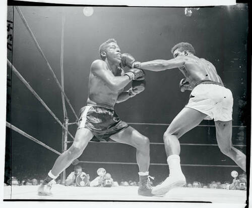 Floyd Patterson Boxing Against Tommy Jackson 1956 OLD BOXING PHOTO 3