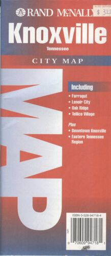 Rand-McNally city map: KNOXVILLE Tennessee © 1995 - with index -