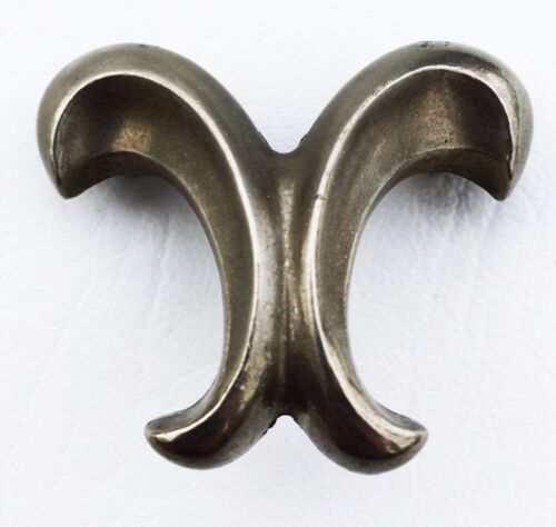 """Nickel Antique hardware French Provincial drawer pull Cabinet Knob 1 1/4"""" center"""