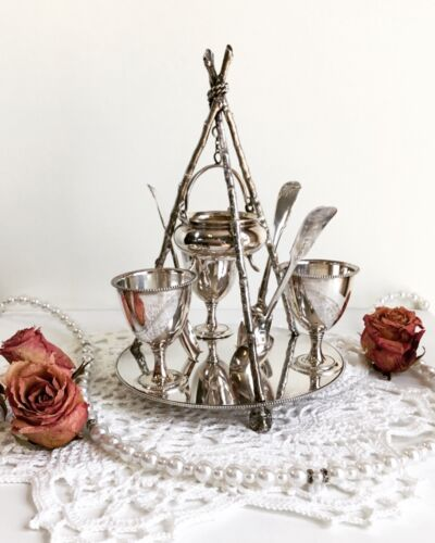 Rare and Unusual Victorian Silver Plated Egg Cruet