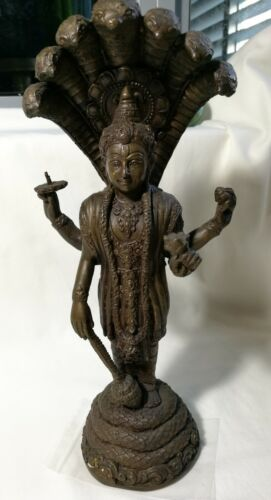Collectable Antique/Vintage  Asia temple Bronze/Brass Buddha H26cm  heavy