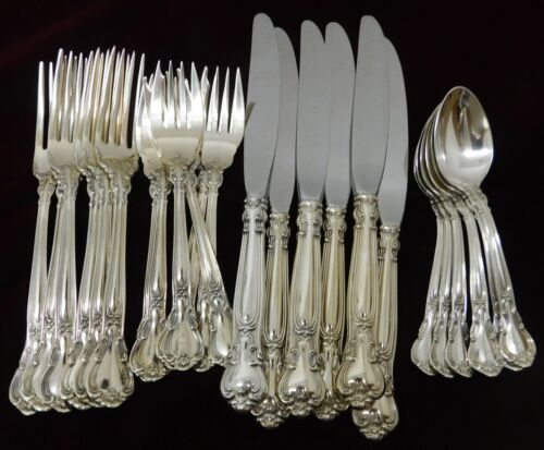 (6) Four Piece Place Settings  Gorham Chantilly Sterling - Place Size - J1596