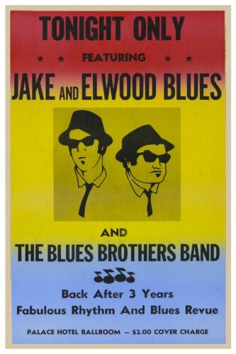"""BLUES BROTHERS CLASSIC CONCERT POSTER 12"""" X 18"""" - JAKE AND ELWOOD BLUES"""