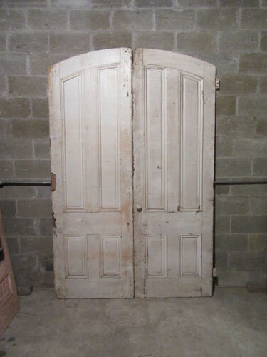~ ANTIQUE DOUBLE ENTRANCE FRENCH DOORS ~ 64 x 98 ~ NEED RESTORED ~ SALVAGE