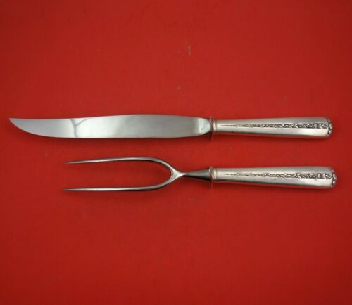 Rambler Rose by Towle Sterling Silver Roast Carving Set 2pc HH WS Serving