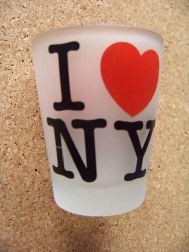 I Love NY frosted shotglass shot glass new york city n.y.c. nyc