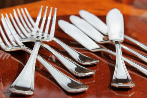 Christofle America Silver Plated Fish Knives and Forks Set in Four Settings