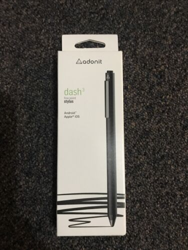 Adonit Dash 3 Fine Point Stylus Black BRAND NEW