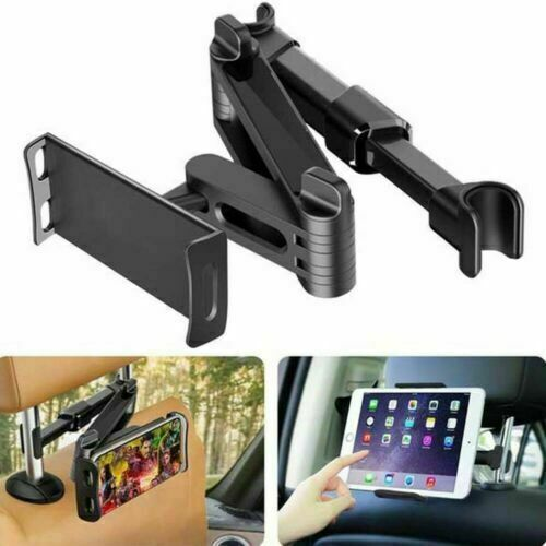 Extendable Car Back Seat Headrest Long Mount Universal Holder iPad Tablet Rotate