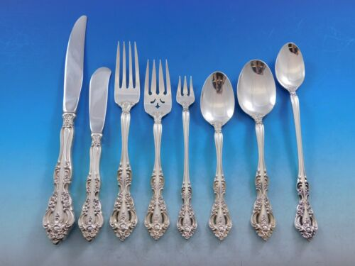Michelangelo by Oneida Sterling Silver Flatware Set for 12 Service 104 Pieces