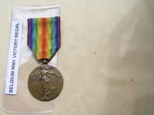 WW1 genuine Belgium Victory Medal, official issue,1914-18 .1914 - 1918 (WWI) - 13962
