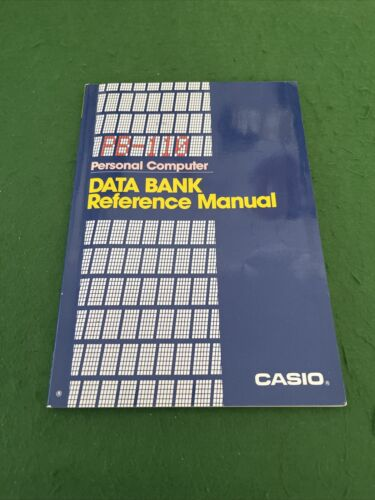 Casio PB-110 Personal Computer Data Bank Reference Manual
