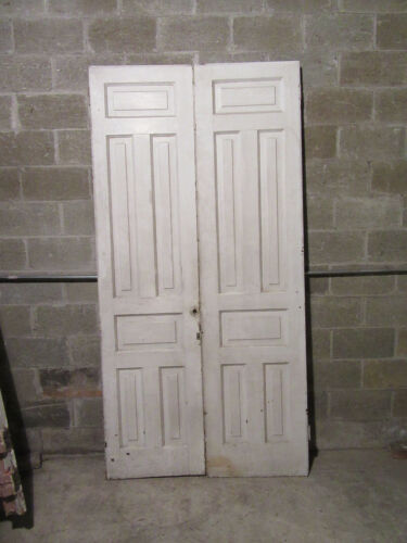 ~ ANTIQUE CHESTNUT DOUBLE ENTRANCE FRENCH DOORS ~ 47 x 93.25 ~ SALVAGE