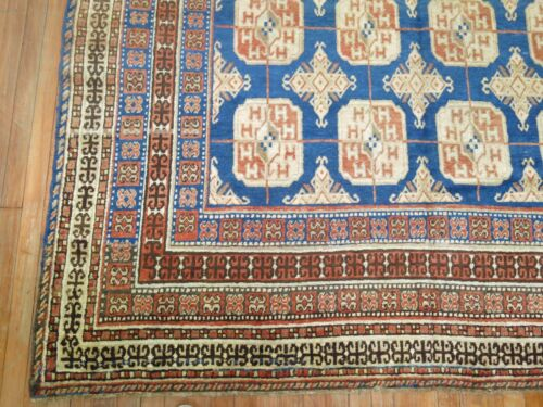 Antique Decorative East Turkestan Khotan Rug Size 6'11''x12'10''