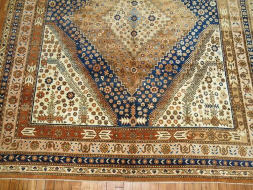 Antique Decorative Turkestan Khotan Rug Size 7'2''x14'