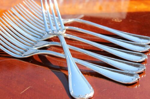 Christofle Rubans Silver Plated Table Forks Set of Six