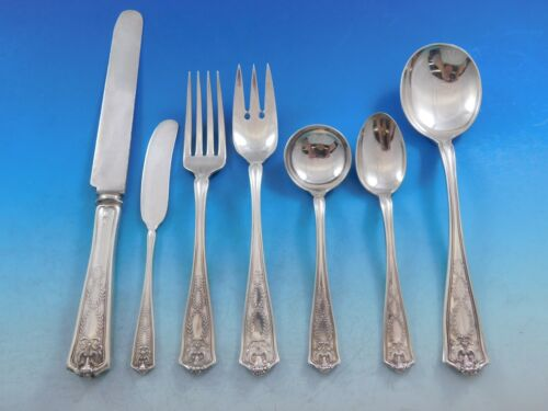 Winthrop by Tiffany Sterling Silver Flatware Set for 8 Service 56 pieces W Mono