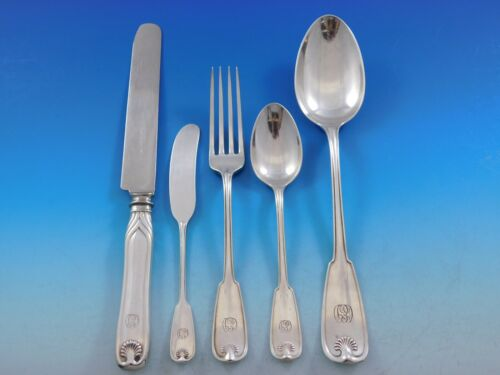 """Palm by Tiffany Sterling Silver Flatware Service Set 42 Pieces """"CED"""" Monogram"""
