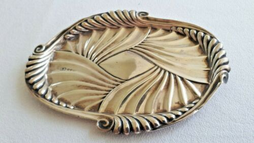 Vintage Sterling Silver small TRAY Birmingham 1914 Art Nouveau Hallmarked