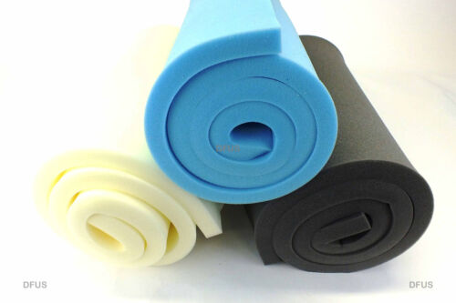 """UPHOLSTERY FOAM SHEET. LOW / MEDIUM / HIGH DENSITY. 80"""" x 20"""" ANY THICKNESS SIZE <br/> TRUSTED UK SELLER, BEST PRICES ON EBAY, QUICK POSTAGE!"""