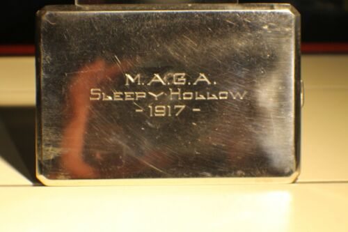 VINTAGE CIGARETTE &  CASE STERLING SILVER MONOGRAMMED SLEEPY HOLLOW M A G A