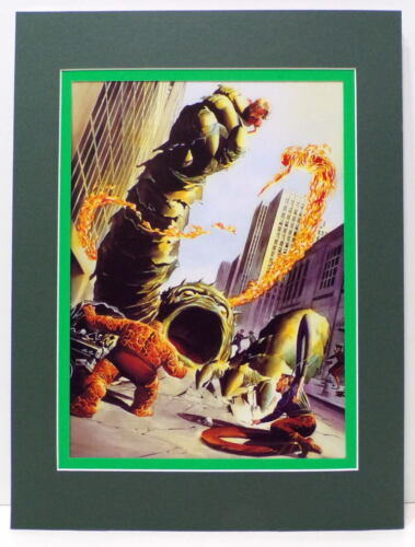 FANTASTIC FOUR 1 TRIBUTE PRINT PROFESSIONALLY MATTED Alex Ross art