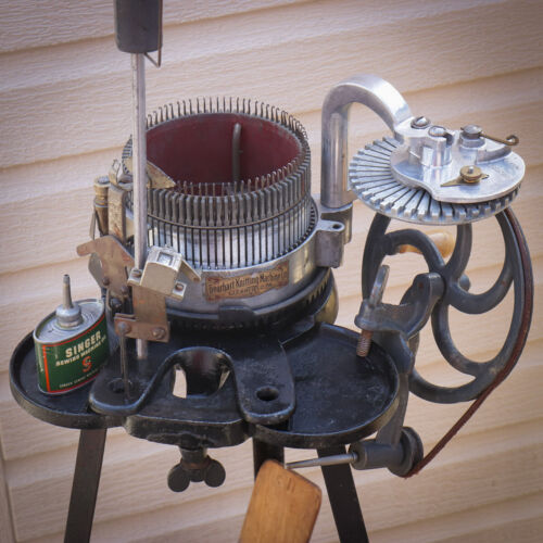 🇺🇸1924 Antique Gearhart Sock Knitting Machine Complete Operational Great Shape