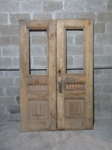 ~ ANTIQUE DOUBLE ENTRANCE FRENCH DOORS ~ 55 x 83 ~ ARCHITECTURAL SALVAGE ~