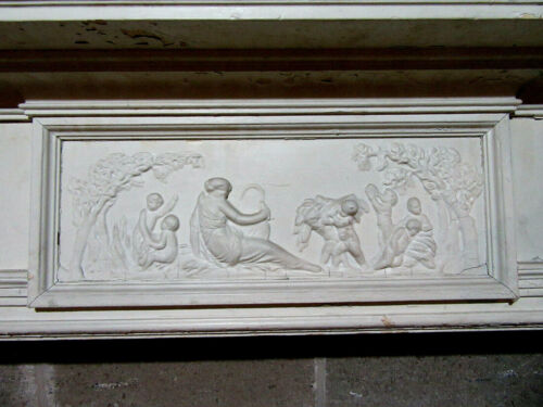"""~ ANTIQUE FIREPLACE MANTEL WITH PUTTI AND HUGE 72"""" OPENING ~ 92 X 55 ~ SALVAGE"""