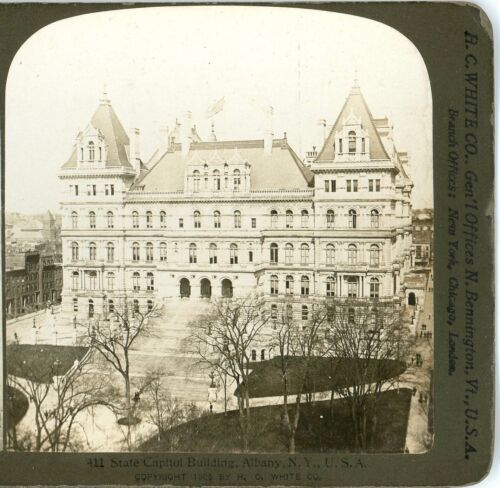 NEW YORK, State Capitol Building, Albany--H.C.White Stereoview #411 c.1905