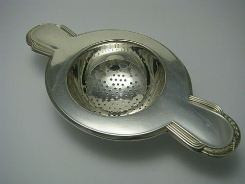 WMF SILVER PLATED TEA STRAINER LEMON STRAINER by WMF Germany 1900s No Mono Excel