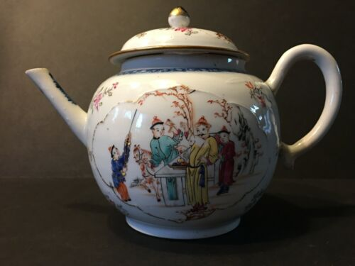 Antique Large Chinese Mandarin Teapot, Qianlong Period, Ca 1760
