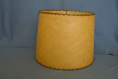 Mid-Century Modern  Shade for Electric Table Lamp Off White Fiberglass