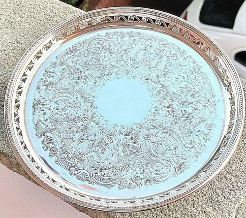 Rare Sterling Silver Tray - Garrard & Co Ltd - Birmingham - 1978
