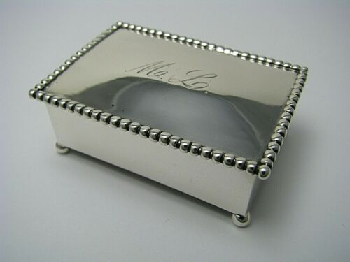 STERLING SILVER STAMP DISPENSER STAMP BOX by T&P.Co.c1900s Rare Marks! Mono M.L.