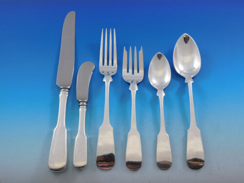 Fiddleback by Old Newbury Crafters Sterling Silver Flatware Set 48 pcs Dinner