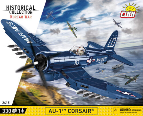 COBI AU-1 Corsair (2415) - 330 elem. - Korean War US attack aircraft