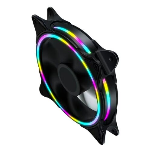 Computer PC CPU 120mm LED Cooling Fan 12V 4Pin to 3Pin RGB Ultra Quiet Cooler OZ