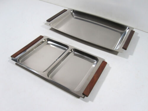 Vintage Stainless Serving Tray Denmark