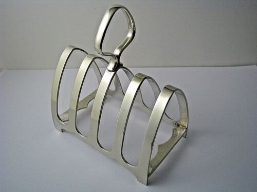 SILVERPLATE TOAST RACK SILVER PLATED TOAST RACK 4-SLICE TOAST EPNS England 1900s