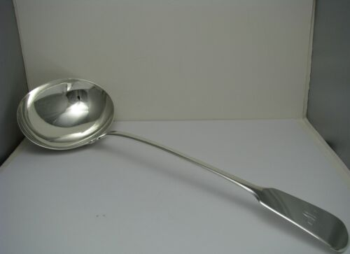 "STERLING SILVER LADLE SOUP LADLE by Richard Poulden London England 1819 Mono ""W"""