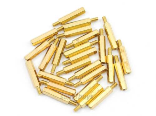 25pc 20mm M3 Male Female Brass Hex Standoff Spacer Screw Separator Stand Off PCB