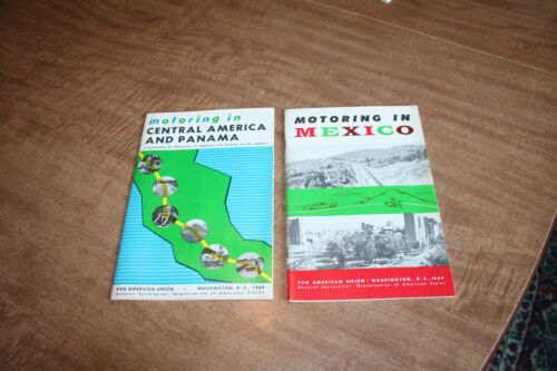 2 Pan American Union Booklets Motoring In Mexico+Central America 1964 See Pix!!