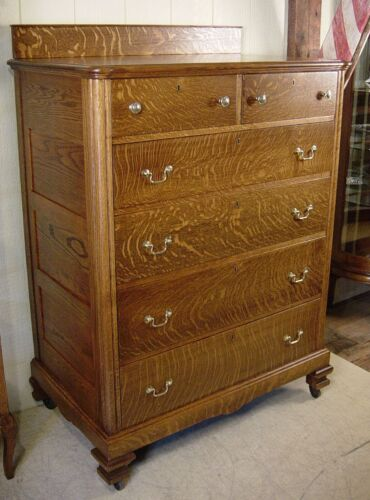 Antique Oak Extra Deep High Quality Chest of Drawers