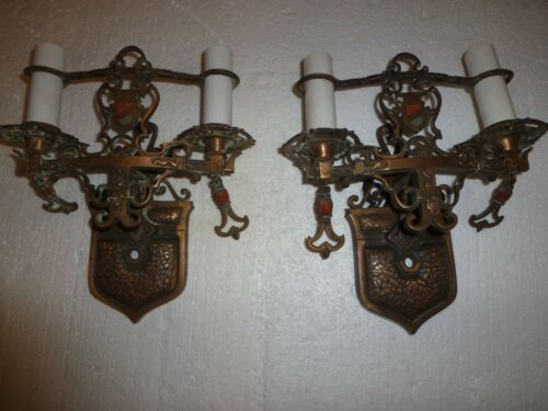 Pair of antique wall sconces