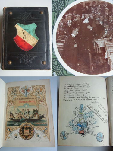 Schauenbergs Kommers Book, Entries Country Team Plattonia Mittweida From 1912