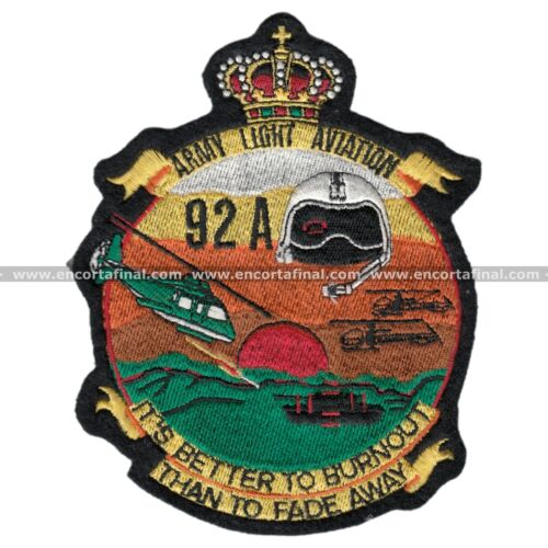 Army Light Aviation -It´S Better To Burnout Than To Fade Away- - ECF Patch 2189Parches - 4725